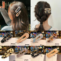 Newest Acetate Hair Clip Hairband Comb Bobby Pin Barrette Hairpin Headdress