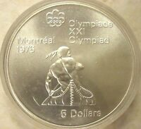 1974 CANADA $5 DOLLAR SILVER MONTREAL 1976 OLYMPIC COMMEMORATIVE COIN