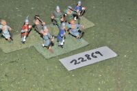 25mm medieval / french - archers 9 figs inf - inf (22869)