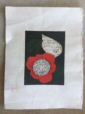 KAORU KAWANO WOODBLOCK PRINT PENCIL SIGNED JAPANESE MODERNISM VNTG ABSTRACT ART