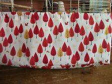 100% COTTON AUTUMN LEAVES PATTERN LARGE BIRD CAGE TIDY  ~ 23 X 15 X 8 approx