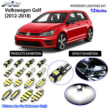 12 Bulbs Xenon White LED Interior Light Kit For (MK7) 2012-2018 Volkswagen Golf
