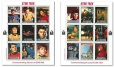 Star Trek - Two Sheets Of Collectible Postage Stamps, Saint Vincent