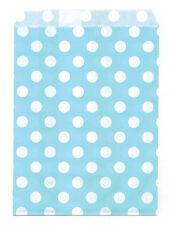 25 Pcs AquaSmall Dots 5x7 Print Paper Gift Bags Favor Candy Shop