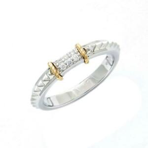 Andrea Candela 18k Yellow Gold & Diamonds Pave Bar Cable Halo Ring ACR329/05