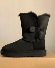 UGG BAILEY BUTTON II 1016226 BLACK, WOMAN'S BOOTS AUTHENTIC BRAND NEW SIZE 6