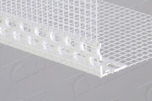 15 x uPVC corner meshed beads / angle bead / profile 2,5 METRE / 150 gms