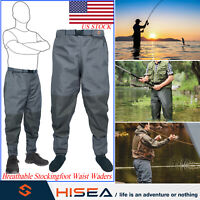 HISEA Breathable Stockingfoot Insulated Waist Waders Hunting Fly Fishing Waders