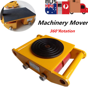 6 Ton Heavy Machinery Mover Dolly Skate Roller Cap Mover Trolley 360° Rotation