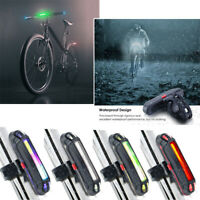 RECARGABLE USB LED Bicicleta Bici Ciclismo MTB DELANTERO LUZ TRASERA DE COLA