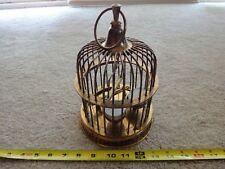 Vintage brass birdcage candle holder, Heavy duty metal decor. Nice!