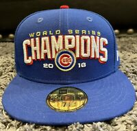New Era 59Fifty Chicago Cubs 2016 World Series Champions Fitted Size 7 1/4