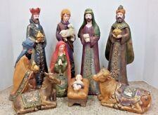Thomas Pacconi Classics Nativity Scene Christ Born Christmas Hand Painted Jesus