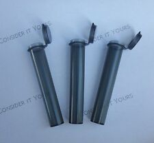 (Set of 3) BLACK 98mm J- Doob Tube 420 Joint Holder Raw Cone Storage  3.75 Tall