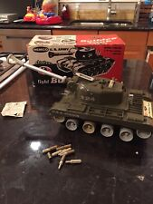 Working ! Remco Light Bulldog Army Tank B/O Toy With Excellent Box