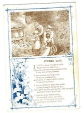 """c1880-90s  COLLECTION SUNDAY SCHOOL CARDS Summer Time """"I love the holy Sabbath"""""""