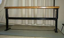 ANTIQUE BULMAN SPRING STEEL & WOOD BUTCHER PAPER CUTTER/HOLDER COUNTRY STORE MER