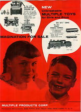 1959 ADVERT Multiple Products Toy Giant Fireball Express Train Railroad Stoves
