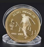 Elvis Presley gold Coin in case new