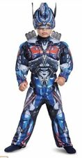 Transformers Optimus Prime Costume 2T Toddler Muscle Mask Dress Up Halloween New