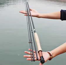 Fly Fishing Rod 2.7m/8.85ft 4section Spin Bass Fishing Pole Tackle Gear Rods