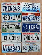 "10 US States "" CA MN KY MT WI IA UT WA TN MS "" BULK LOT Graphic License Plates"