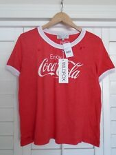NWT WILDFOX COUTURE Coca Cola Destroyed Johnny Ringer Tee Top T-Shirt Large L
