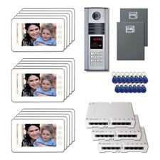 """Apartment Home Security Video Intercom System Kit with (15) 7"""" Color Monitors"""