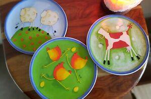 Decorative wall plates kitchen farm animals M&S