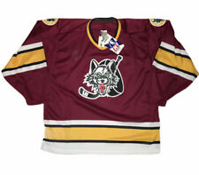 NWT Chicago Wolves Autographed Bauer Pro Wear Red Yellow Jersey Mens Sz M