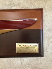 America's Cup 1901 COLUMBIA Half Hull Boat Display HERRESHOFF Model RACING YACHT