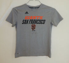 San Francisco Giants MLB Baseball T Shirt ADIDAS Climalite Size YOUTH MEDIUM