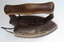 Vtg. Electric power Iron Laundry Clothing press Wood handle leg Stand India