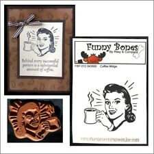 Coffee Midge Cling Rubber Stamp Riley & Company stamps FBP-012 Meme image Stamp