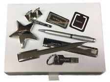 Tie Clip Cufflinks USB Money Clip Pen Box Gift Set Builder Tape Measure Engraved