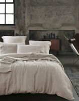 NEW 100% FRENCH LINEN Natural & White Quilt Cover| Sheet Set| Queen King Sizes