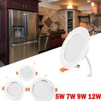 5W 7W 9W 12W LED Panel Light Round Ceiling Down Light Motion Sensor Downlamp