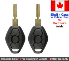 2x New Replacement Keyless Remote Control Key Fob For BMW Shell / Case Only