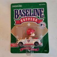 Vtg 1994 Ertl Baseline Boppers Philadelphia Phillies Bobblehead Diecast Car, New