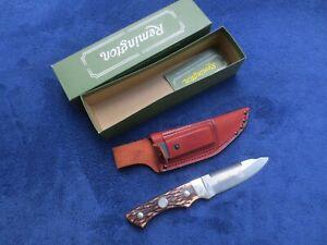 VINTAGE REMINGTON R-6 SKINNER KNIFE AND SHEATH WITH ORIGINAL BOX
