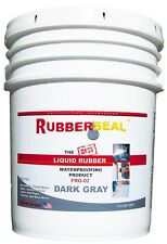 Rubberseal Liquid Rubber Waterproofing Roll On Dark Gray 5 Gallon - New