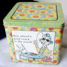 Hallmark Maxine Tin / How about a good snack in the mouth? Shoe Box Tin #49