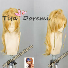 Halloween Wig Hair Cosplay Costume Final Fantasy X 10 Rikku BLONDE Karneval