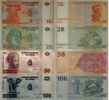 CONGO 10-20-50-100 FRANCS  GEM UNC