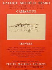 Roland Oudet affiche litho Petits maitres anciens Camargue 1971 P 727