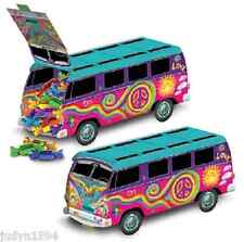60'S HIPPIE BUS CENTREPIECE PARTY TABLE GROOVY PEACE RETRO FAVOR BOX TREAT LOOT