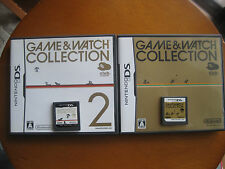 F/S NINTENDO Game & Watch Collection 1 AND 2 Japan Donkey Kong  Dsi and Ds lite