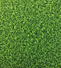 RK46 Green Grass Turf Sports Cave Ball Field Football Cotton Fabric Quilt Fabric