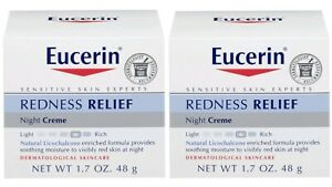 Eucerin Redness Relief Night Cream 1.7 oz 48g (2 Pack) Fast Free Shipping