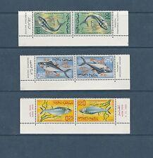 Maroc  faune poissons tete beche   de 1967  num: 514A/16A  **